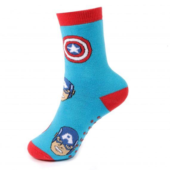 Boys Captain America Slipper Socks