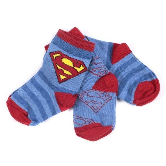 Superman Superhero Character Boys Socks 3 pair pack