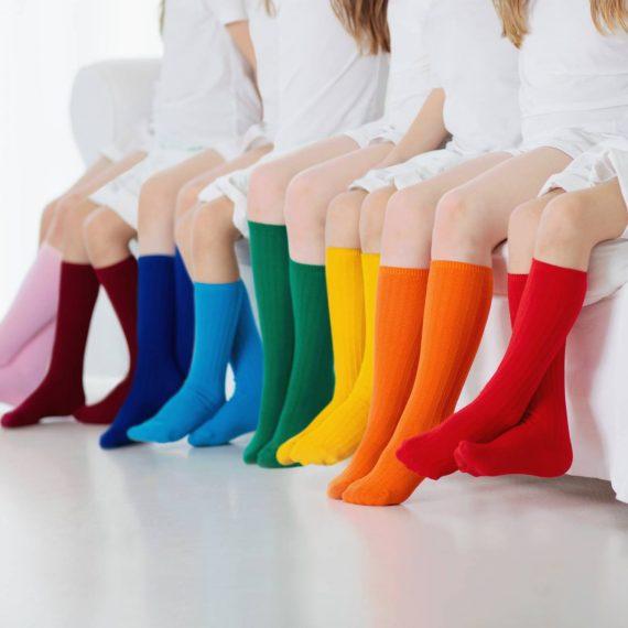 Girls Plain Socks