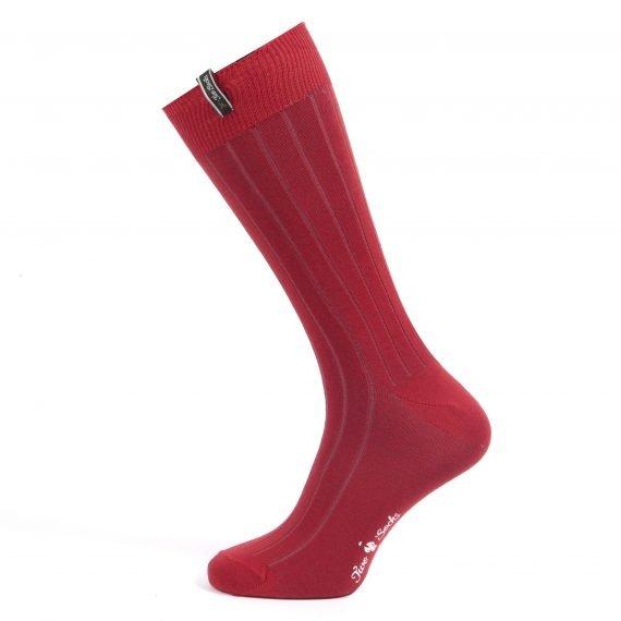 Mens Thin Knit Ribbed Cotton Socks