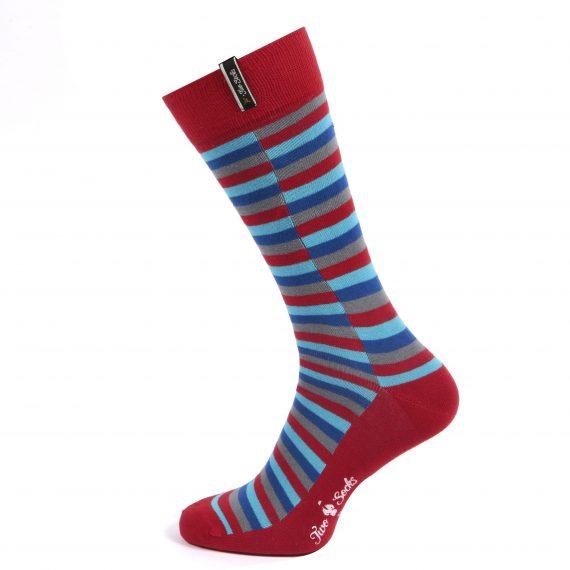 Mens Thin Knit Cotton Socks - Check Design