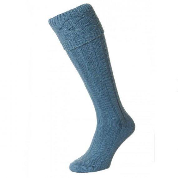 Mens Premium Kilt Socks Classic Blue
