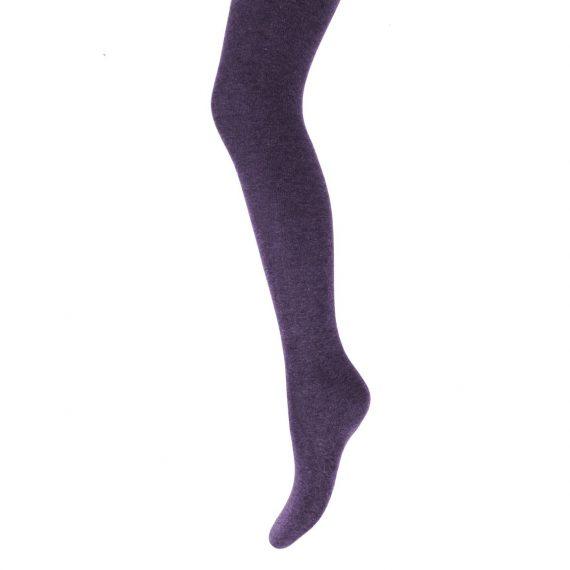 Girls Purple Cotton Tights