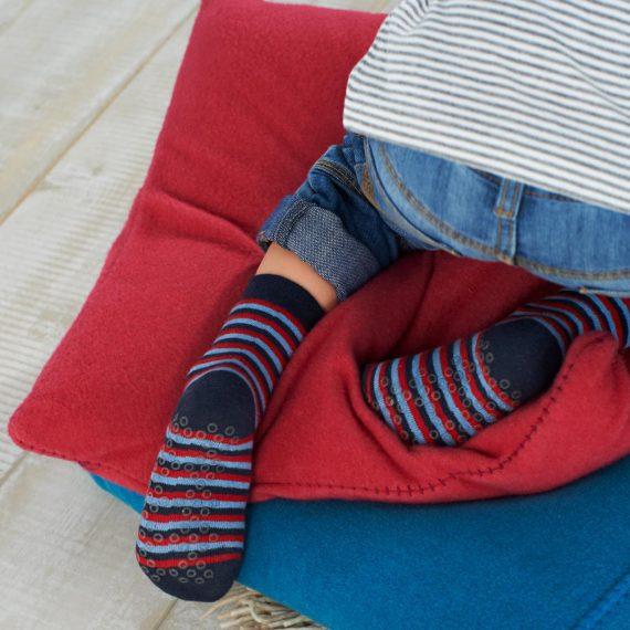 Boys Slipper & Grip Feet Socks