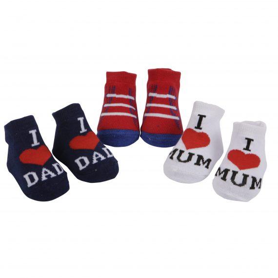 Baby Socks I love mum and Dad