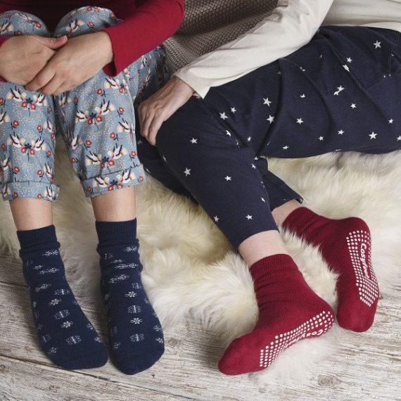 Girls Slipper & Grip Feet Socks