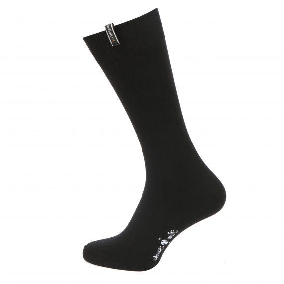 Mens Bamboo Cotton Plain Black Socks
