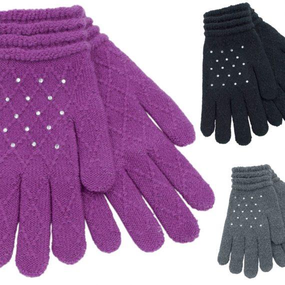 Ladies-Soft-Diamond-Jacquard-Gloves