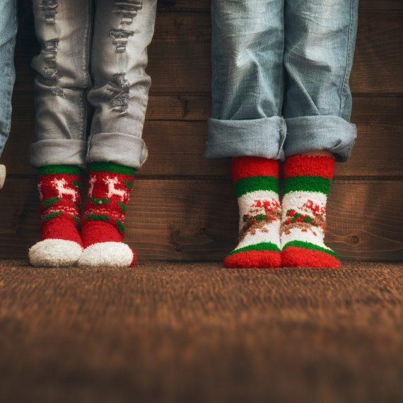 Girls Christmas Socks